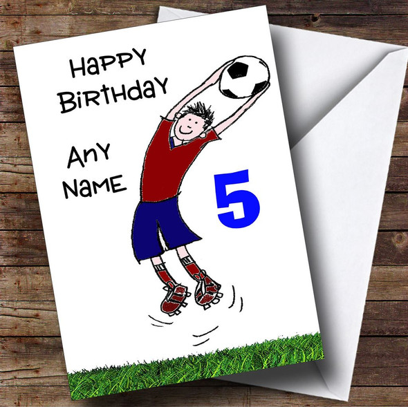 Any Age Football Fan Personalised Birthday Card