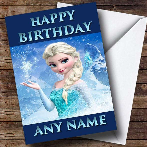 Elsa Frozen Personalised Birthday Card