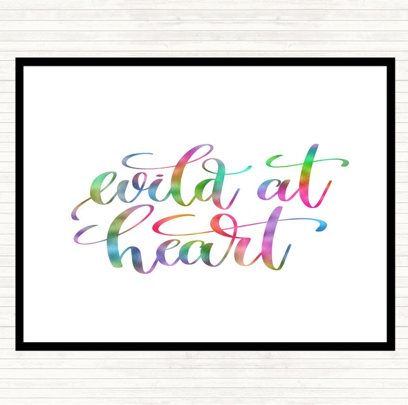 Wild At Heart Rainbow Quote Mouse Mat Pad