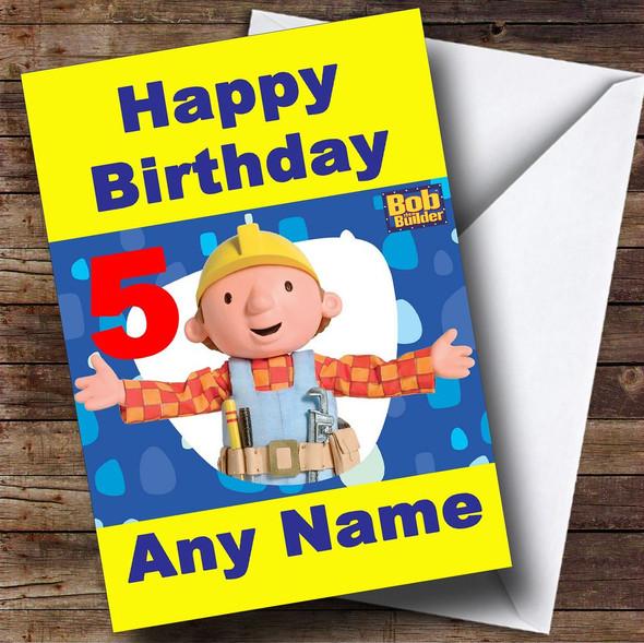 Bob The Builder Personalised Birthday Card
