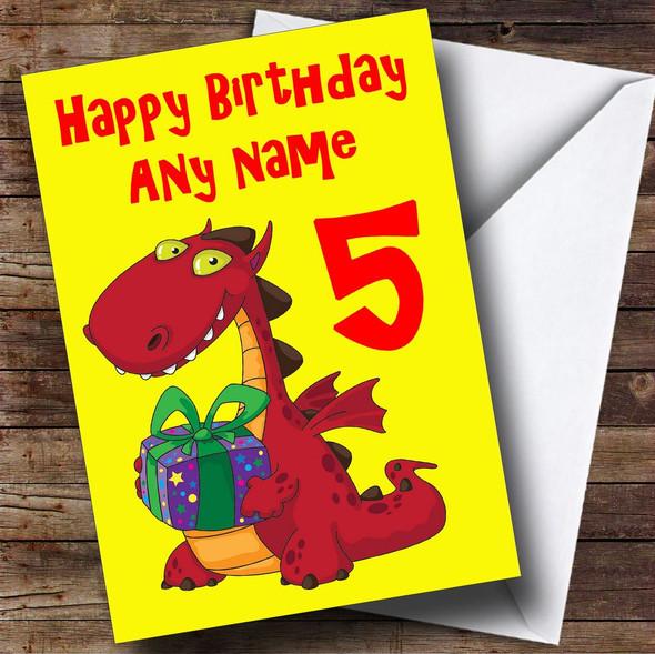 Birthday Dragon Personalised Birthday Card