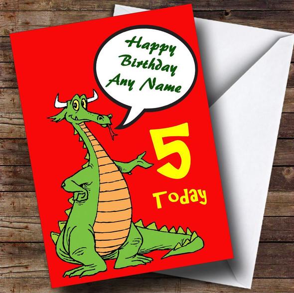 Talking Dragon Personalised Birthday Card