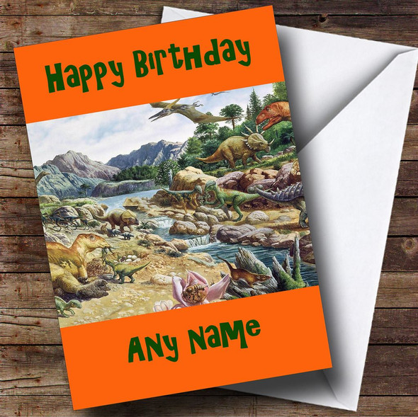 Dinosaurs Personalised Birthday Card