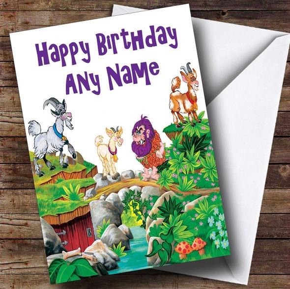 Billy Goats Gruff Personalised Birthday Card