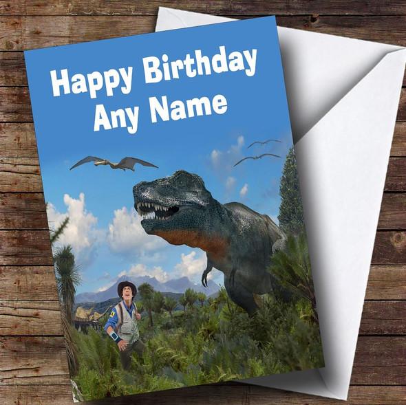 Andy's Dinosaur Adventures  Personalised Children's Birthday Card