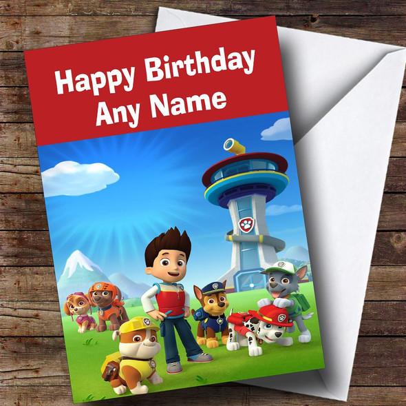 Paw Patrol  Personalised Children's Birthday Card