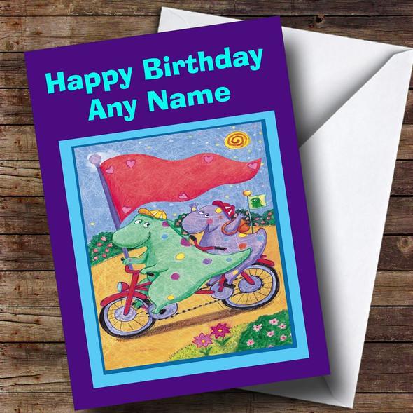 Cute Dinosaurs Personalised Children's Birthday Card