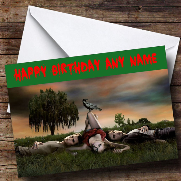 Vampire Diaries Personalised Birthday Card