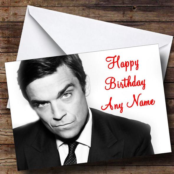 Robbie Williams Personalised Birthday Card