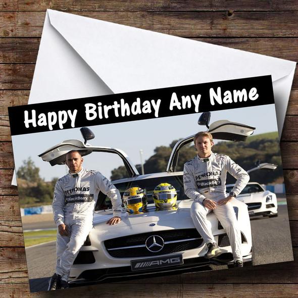 Lewis Hamilton & Nico Rosberg Personalised Birthday Card
