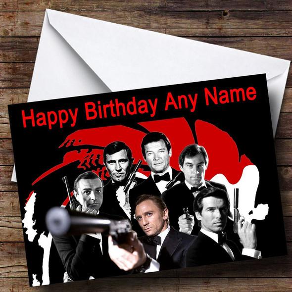James Bond  Various Personalised Birthday Card
