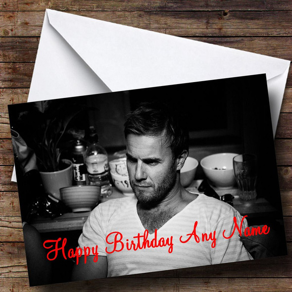 Sexy Gary Barlow Personalised Birthday Card