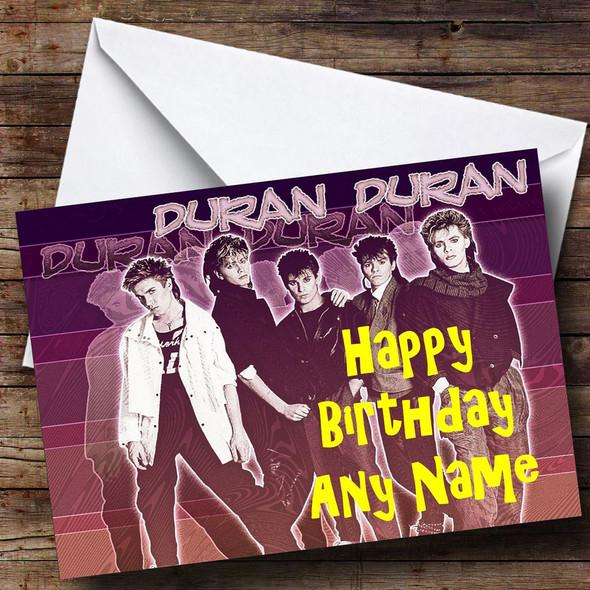 Duran Duran Personalised Birthday Card