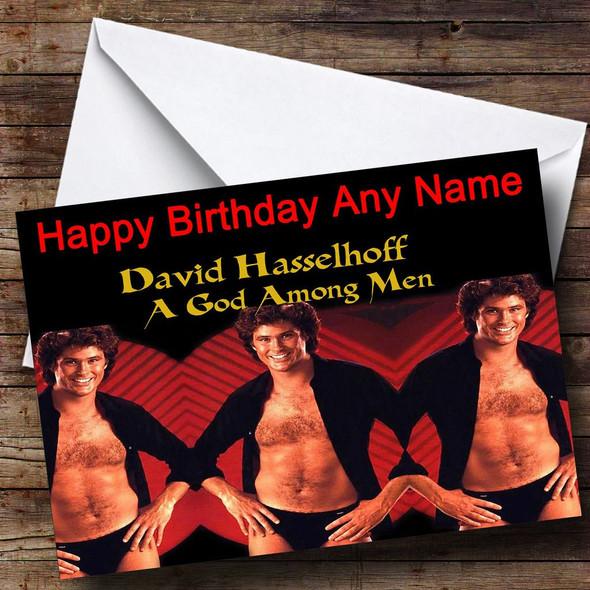 David Hasselhoff Personalised Birthday Card