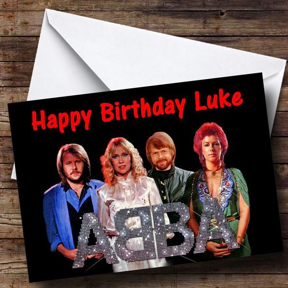 Abba Personalised Birthday Card