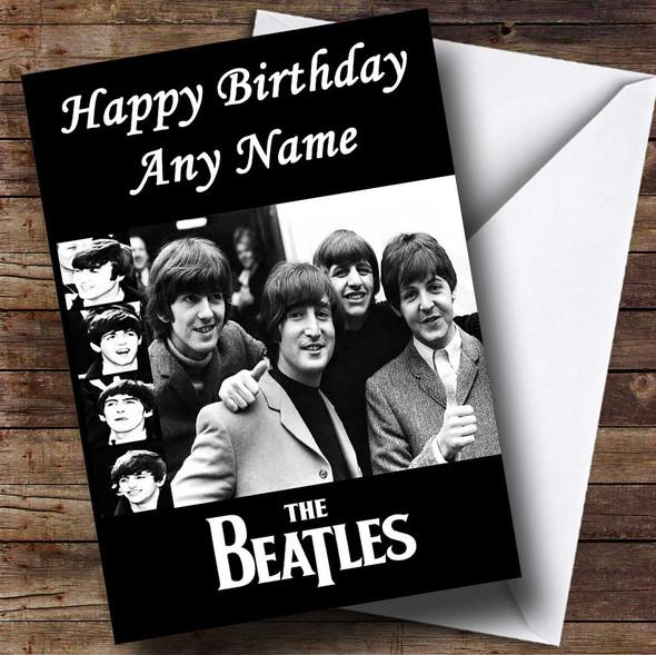 The Beatles Personalised Birthday Card