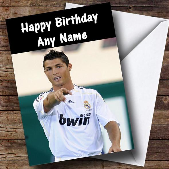 Ronaldo Personalised Birthday Card