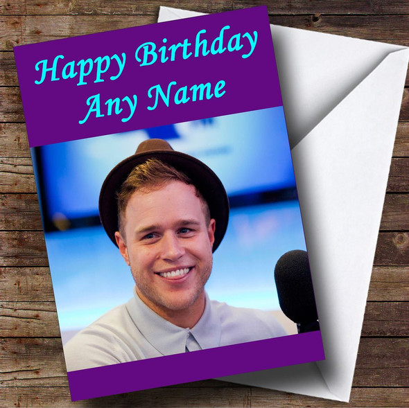 Purple Olly Murs Personalised Birthday Card