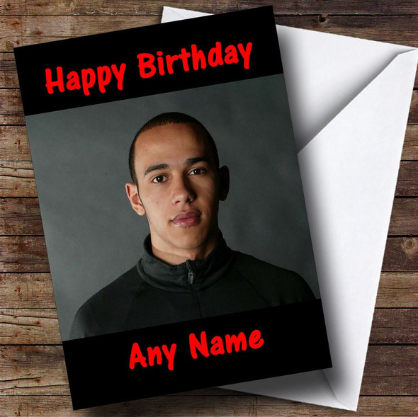 Lewis Hamilton Personalised Birthday Card