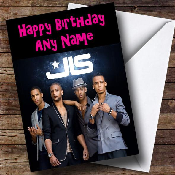Jls & Logo Personalised Birthday Card