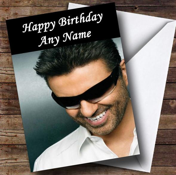George Michael Personalised Birthday Card
