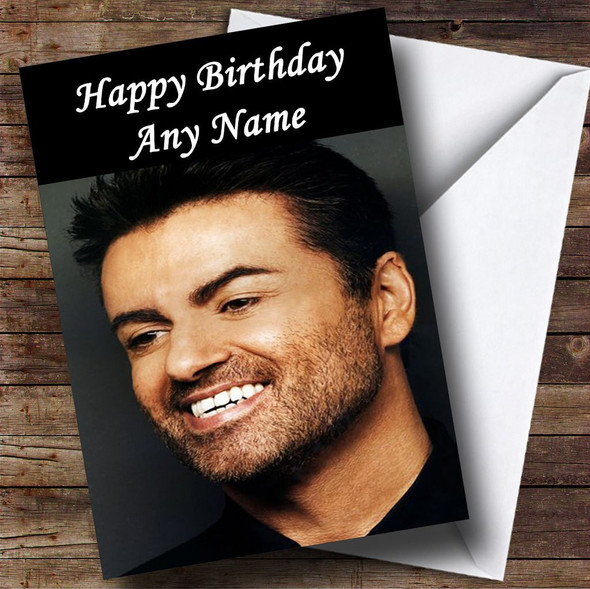 George Michael Smiling Personalised Birthday Card