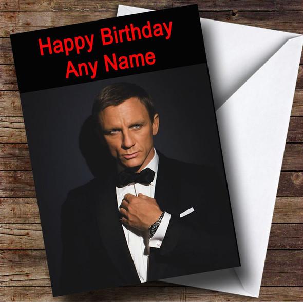 Daniel Craig Personalised Birthday Card