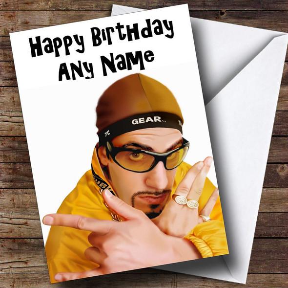 Ali G Personalised Birthday Card