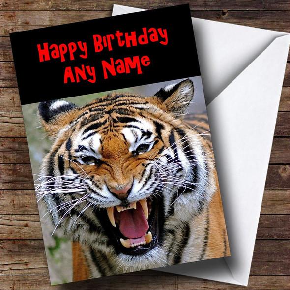Roaring Tiger Personalised Birthday Card