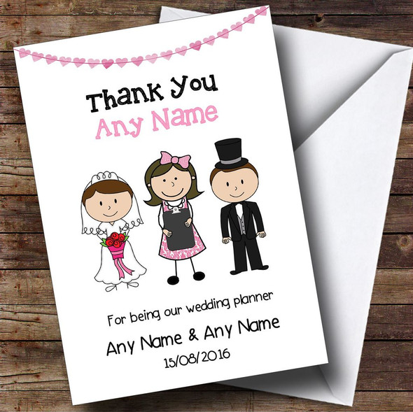 Thank You For Being Our Wedding Planner Personalised Thank You Card