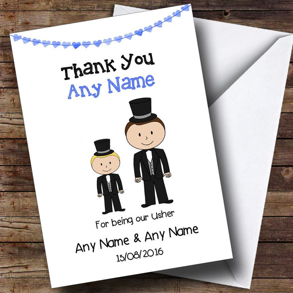 Thank You For Being Our Usher Personalised Thank You Card
