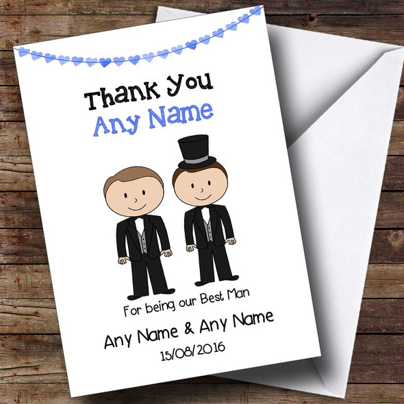 Thank You For Being Our Best Man Personalised Thank You Card