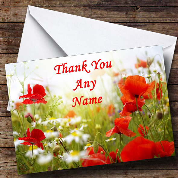 Poppy Personalised Thank You Card