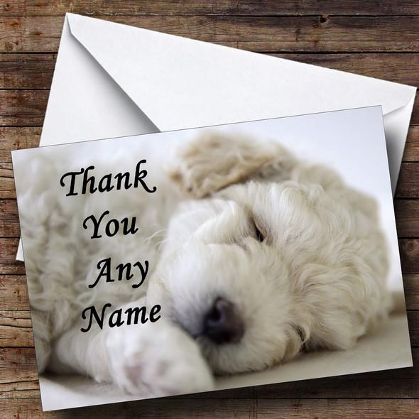 Bichon Frise Dog Personalised Thank You Card