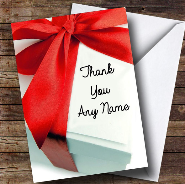 Special Gift Box Personalised Thank You Card