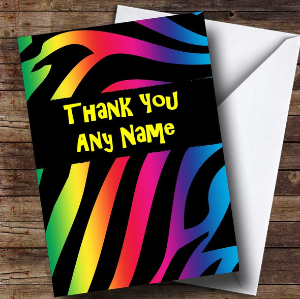 Tiger Animal Print Personalised Thank You Card