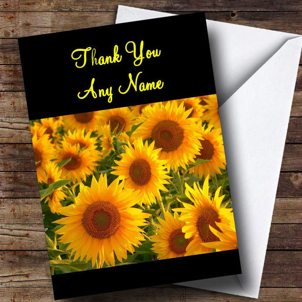 Beautiful Sunflowers Personalised Thank You Card
