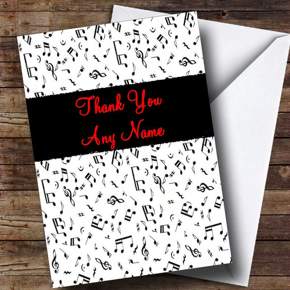Music Personalised Thank You Card