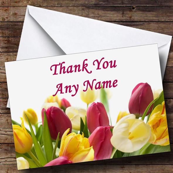 Tulips Personalised Thank You Card