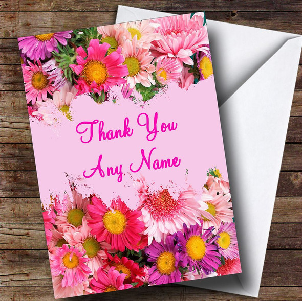 Beautiful Flowers Personalised Thank You Card