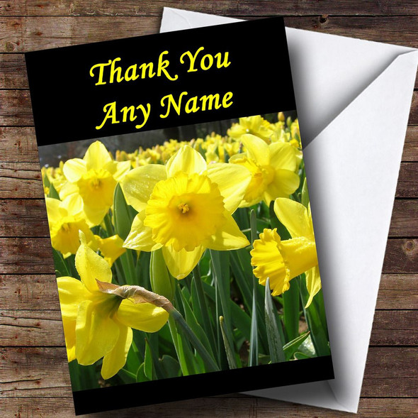 Daffodils Personalised Thank You Card