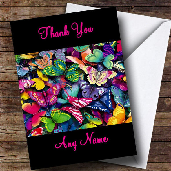 Beautiful Butterfly Personalised Thank You Card