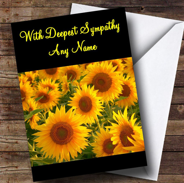 Sunflowers Personalised Sympathy / Sorry For Your Loss Card