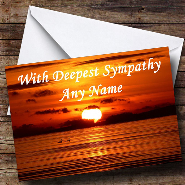 Beautiful Sunset Personalised Sympathy / Sorry For Your Loss Card