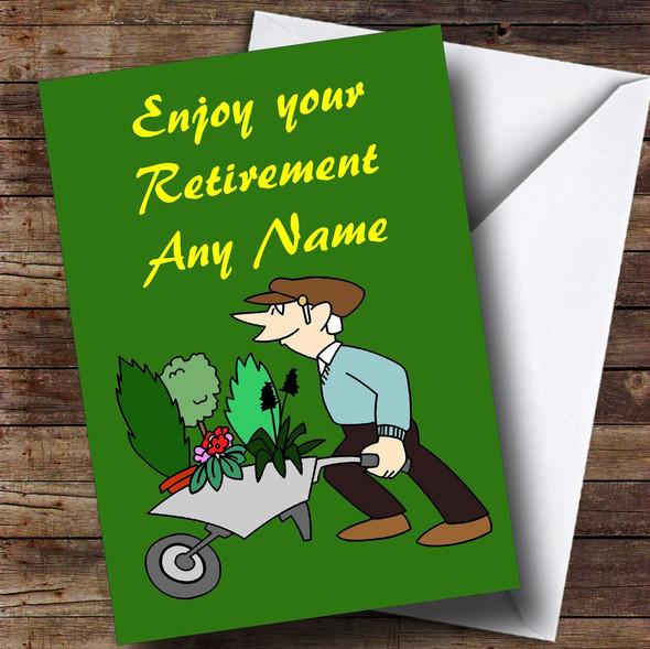 Gardening Personalised Retirement Card