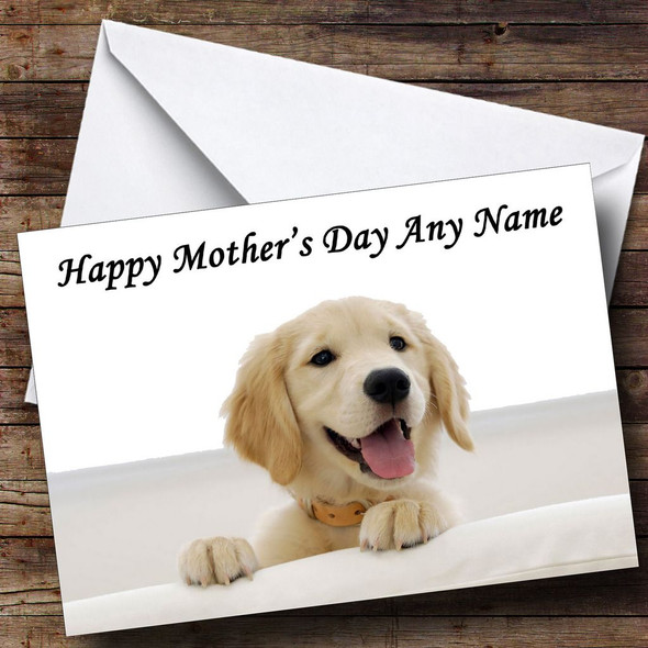 Beautiful Labrador Puppy Personalised Mother's Day Card