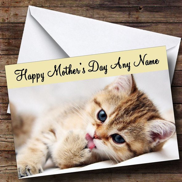 Gorgeous Cat Personalised Mother's Day Card