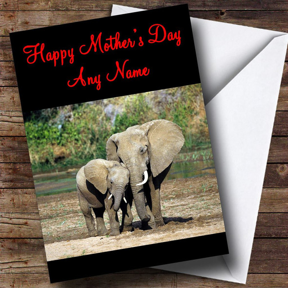 Elephant & Baby Personalised Mother's Day Card