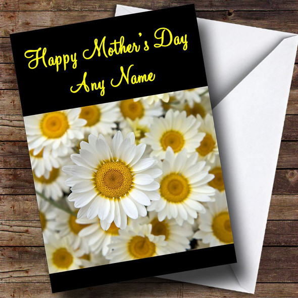 Daisy Flowers Personalised Mother's Day Card