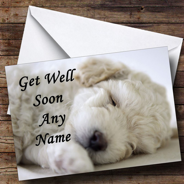 Bichon Frise Dog Personalised Get Well Soon Card